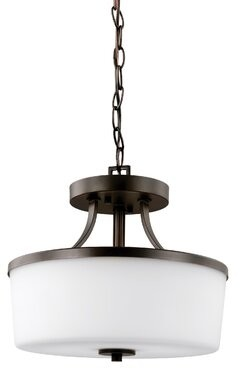 Darby Home Co Burnley 2-Light Drum Chandelier Darby Home Co