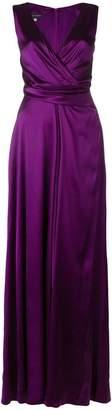 Talbot Runhof crêpe satin long dress