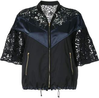 Kolor lace panel zipped jacket