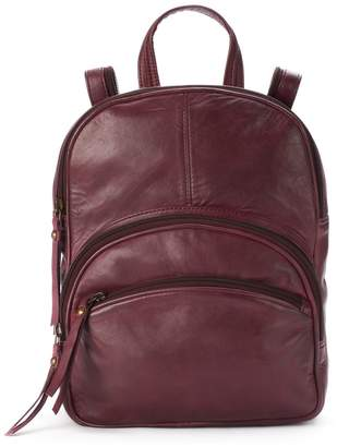 R&R Leather Triple Zipper Small Leather Backpack