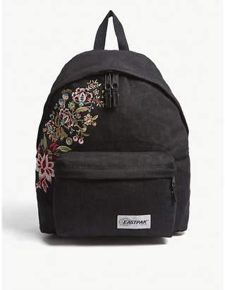 Eastpak Black Grunge Floral Princess Padded Pak'R Backpack