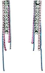 Area Women's Crystal Chandelier Earrings-Silver