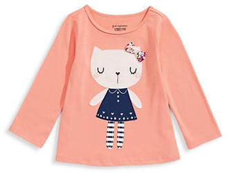First Impressions Baby Girl's Patch Cotton Tee