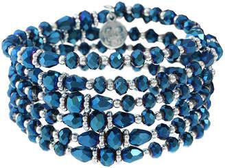 Liz Claiborne Silver Tone Beaded Bracelet