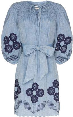 Innika Choo embroidered chambray dress