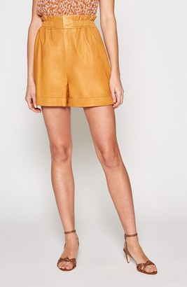 Joie Alexica Leather Shorts