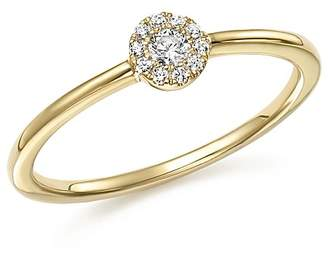 Bloomingdale's Diamond Cluster Stacking Band Ring in 14K Yellow Gold, .10 ct. t.w. - 100% Exclusive