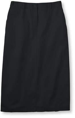 L.L. Bean (エルエルビーン) - リンクル・フリー(形態安定)・ベイサイド・ツイル・ロング・スカート、オリジナル・フィット ヒドゥン・コンフォート・ウエスト