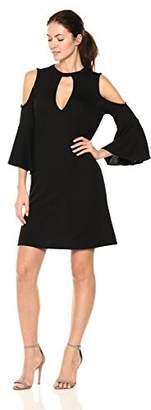 William Rast Women's Bastien Cold Shoulder Choker Dress