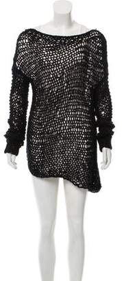Helmut Lang Crochet Long Sleeve Dress