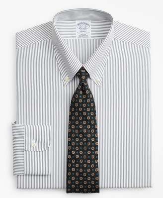 Brooks Brothers Regent Fitted Dress Shirt, Non-Iron Stripe