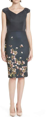 Ted Baker Fitted Floral Dress