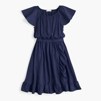 J.Crew Girls' eyelet-sleeve dress