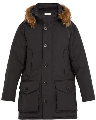 Moncler River Down Parka - Mens - Black