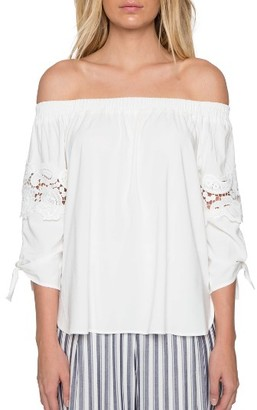 Women's Willow & Clay Lace Off The Shoulder Blouse $79 thestylecure.com