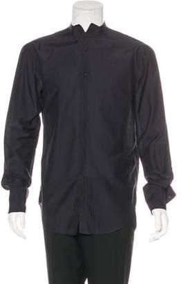 John Varvatos Mandarin-Collar Button-Up Shirt