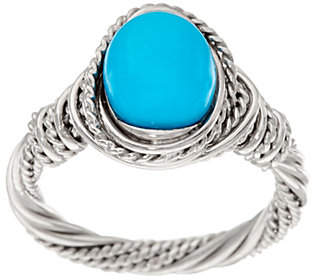 QVC Sleeping Beauty Turquoise WrappedSterling Ring