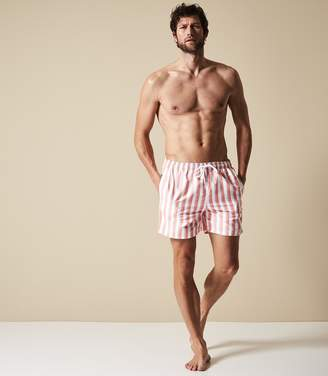 Reiss Our last order date for Christmas has now passed FLINT STRIPED SWIM SHORTS Soft Pink