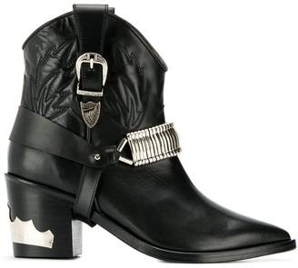 Toga Pulla metallic details cowboy boots