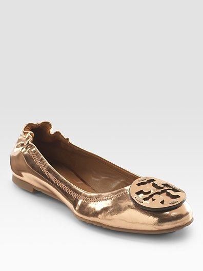 Tory Burch Metallic Reva Ballet Flats