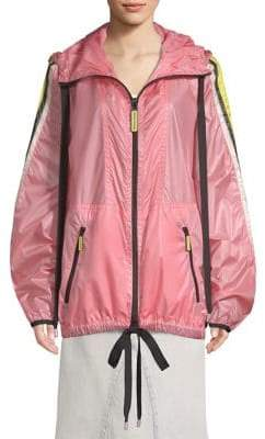 Marc Jacobs Hooded Stripe Windbreaker