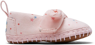 Ballet Pink Star Print Microsuede Tiny TOMS Crib Alpargatas