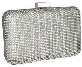 Whiting & Davis Yves Crystal Minaudiere Clutch Bag