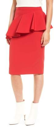 Halogen Ruffle Detail Pencil Skirt