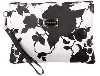 St. John Leather Printed Clutch