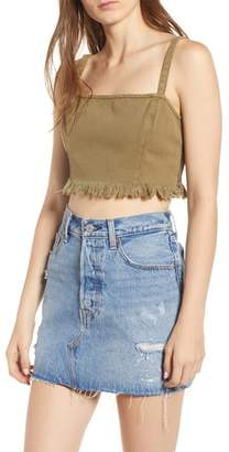 Somedays Lovin Burning Man Denim Crop Top