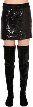 Alberta Ferretti Two Tone Sequined Mini Skirt