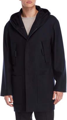 Jil Sander Dark Blue Hooded Coat