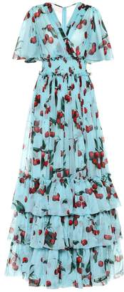 Dolce & Gabbana Exclusive to Mytheresa cherry printed silk gown