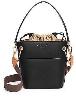59f1fcf106 Chloé Women s Mini Drawstring Leather Bucket Bag