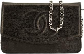 Chanel Black Caviar Leather Wallet On Chain WOC Bag (7000249)