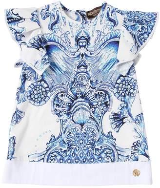 Roberto Cavalli Baroque Print Cotton Jersey Dress
