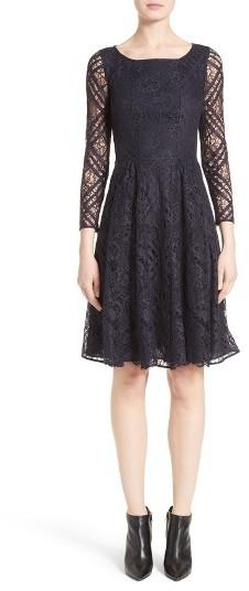 Women's Burberry Liliana Lace Fit & Flare Dress