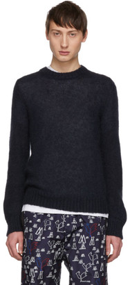 Moncler 2 1952 Black Mohair Sweater