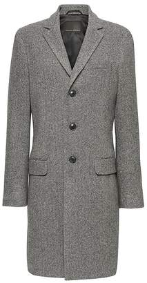 Banana Republic Italian Melton Herringbone Topcoat