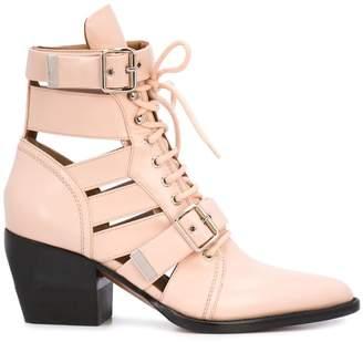 Chloé buckle straps boots