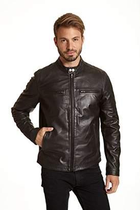 Excelled Men's Leather Racer Jacket