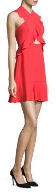 BCBGMAXAZRIABCBGMAXAZRIA Careen Ruffled Cutout Dress