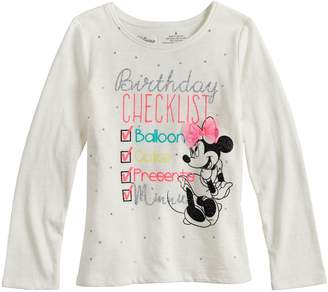 e92bd110 Disneyjumping Beans Disney's Minnie Mouse Girls 4-10 Glittery Birthday Graphic  Tee by Jumping Beans