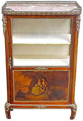 One Kings Lane Vintage French Hand-Painted Vitrine - Vermilion Designs