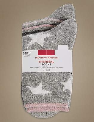 Marks and Spencer 2 Pair Pack Thermal Socks