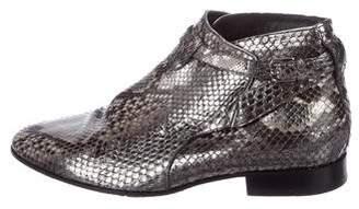 Saint Laurent Snakeskin Jodhpur Ankle Boots