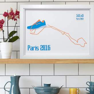 PHOME Paris Marathon Shoe Lace Route
