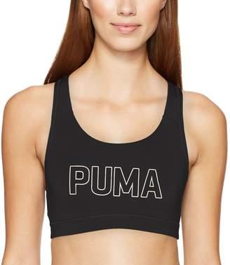 Puma Women's Powershape Forever Sports Bra, White/Cat