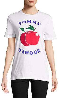 ETRE CECILE Printed Cotton Tee