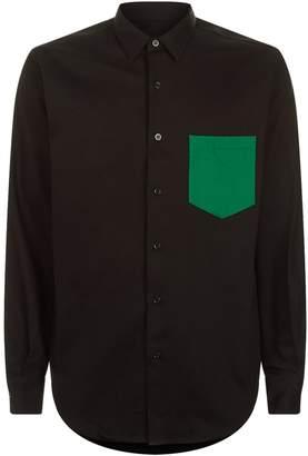 Ami Paris Contrast Pocket Long Sleeve Shirt